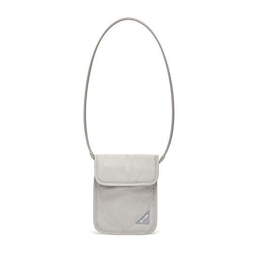 318F6O1OBJL - Pacsafe Coversafe X75 Anti-Theft RFID Blocking Neck Pouch, Neutral Grey