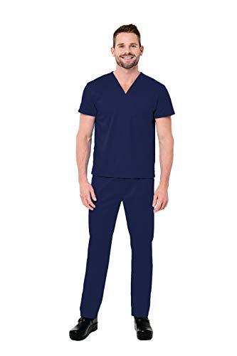 (Elements by Alexander's Uniforms EL9915 Unisex Four Way Stretch Scrub Set (Navy, X-Small))