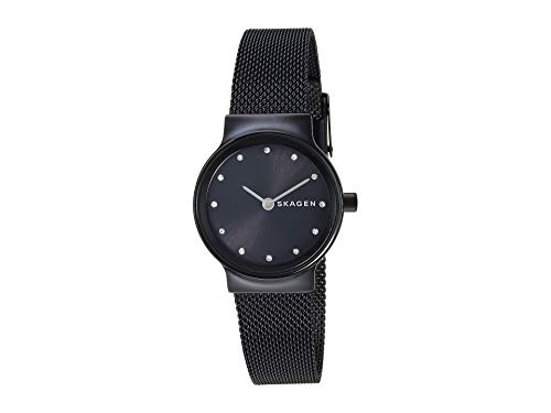 Skagen Women's Freja Crystal Markers - SKW2747 Black One - Skagen Watch Womens Mesh Black