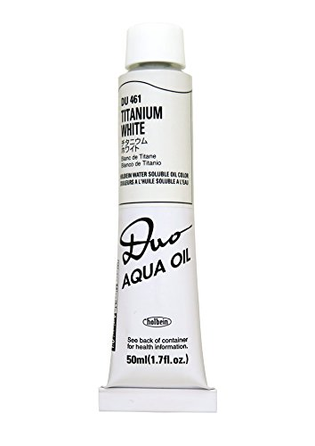 (Holbein Water-Soluble Oil Color Titanium White 50 ml tube)