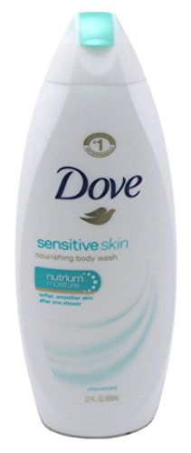 Dove Sensitive Skin Nourishing Body Wash, Unscented 22 oz