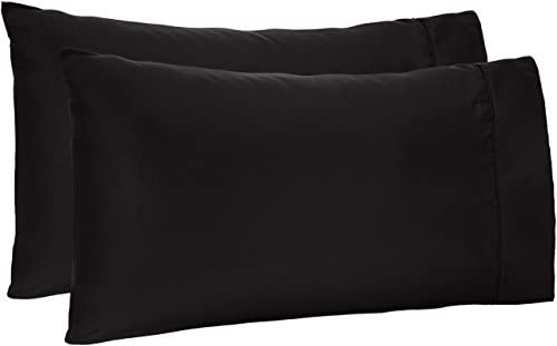AmazonBasics Microfiber Pillowcases Standard Black product image