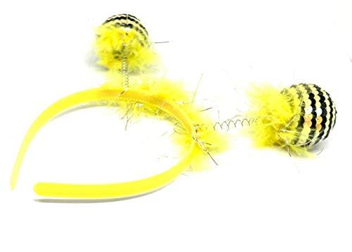 Albertino Pom-Pom Antenna Boppers Bee Costume Headband -