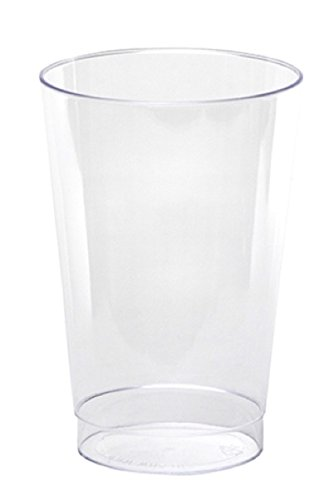 WNA Comet 10 Count Rigid Tall Plastic Tumblers, 12 oz, Clear