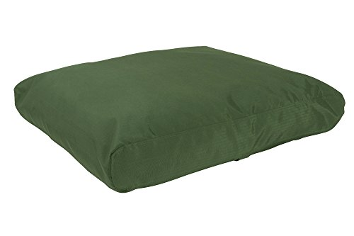 """K9 Ballistics Tough Rectangle Nesting Medium Dog Bed - Washable, Durable and Waterproof Dog Bed - Made for Medium Dogs, 27""""x33"""", Green"""