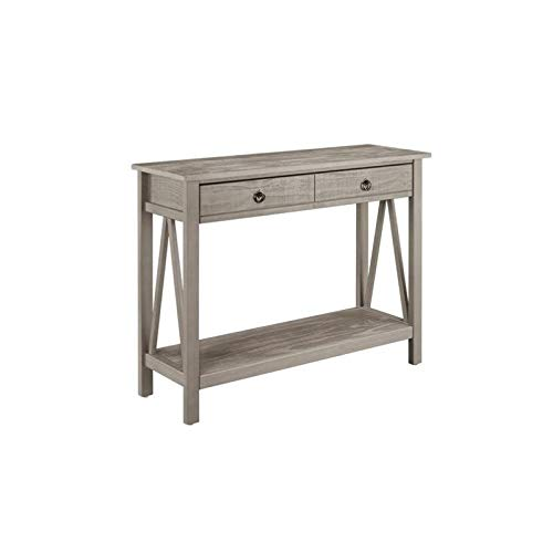 Pemberly Row Console Table in Rustic Gray by Pemberly Row