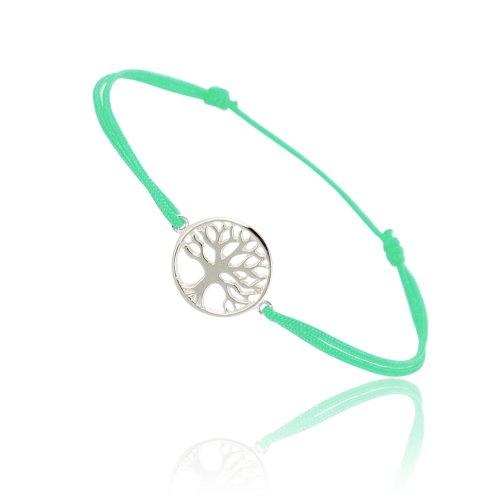 Tousmesbijoux Bracelet coulissant arbre vert Argent 925/00