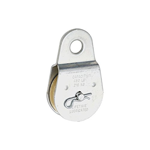 National Hardware 3213BC N195-818 2in. Fixed Single Pulley, Zinc Plated 24 Pack by National Hardware