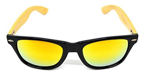 de Negro Amarillo unisex Millennium sol colección WOOD 2018 nueva gafas de Star 7wwRSZxqY