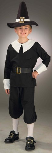 Forum Novelties Pilgrim Boy Costume, Child's Medium