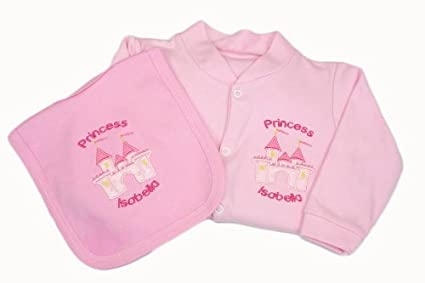 Tinygemz personalizzato rosa fata principessa tutina baby grow set