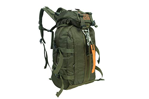 Fox Tactical PB-13159 Parachute Style Ultra Lightweight Backpack Hiking Daypack Outdoor Travel for Men and Women (O.D. Green)