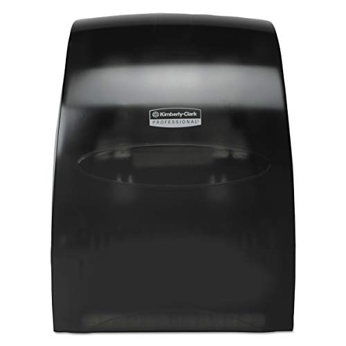 Touchless Hard Roll - Kimberly-Clark Professional 09996 Sanitouch Hard Roll Towel Dispenser, 12 63/100w x 10 1/5d x 16 13/100h, Smoke