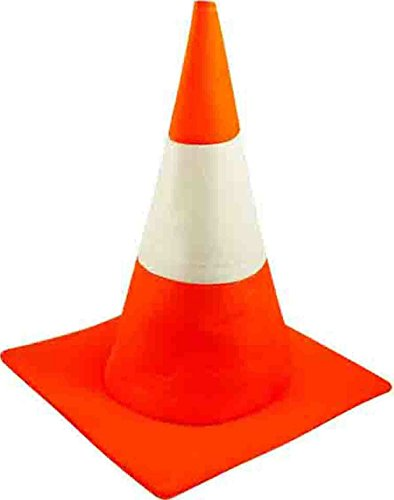 Road Cone Costume (GUBA Traffic Cone Hat Road Funny Stag Night Fancy Dress Adult Costume Orange)