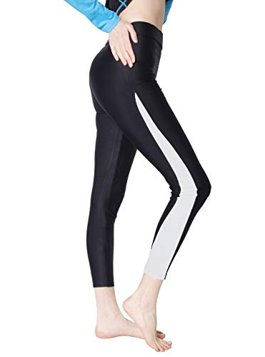 ZITY High-Waisted Swim Pants for Women/Surfing Leggings Swimming Tights White -