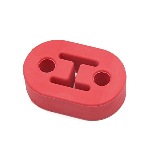 uxcell Red 1/2 Inch Dia Holes Car Rubber Exhaust Mount Hanger Bracket Bushing Support -