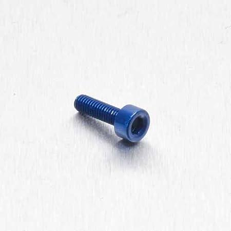 Vis BTR en Aluminium M3 x 0.5mm x 10mm Bleu