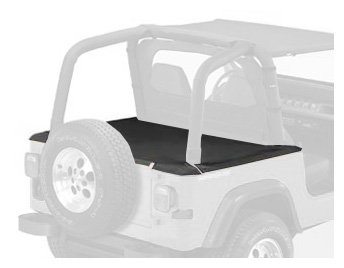 Bestop 90010-15 Black Denim Duster Deck Cover for 1992-1995 Wrangler with Hardtop Removed (Includes New Tailgate bar, Retainer Clips) 35 Duster Deck Cover
