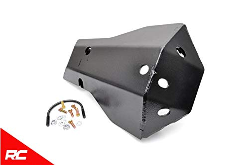 (Rough Country Rear Dana 44 Diff Skid Plate Compatible w/ 2007-2018 Jeep Wrangler System Differential Armor 799)