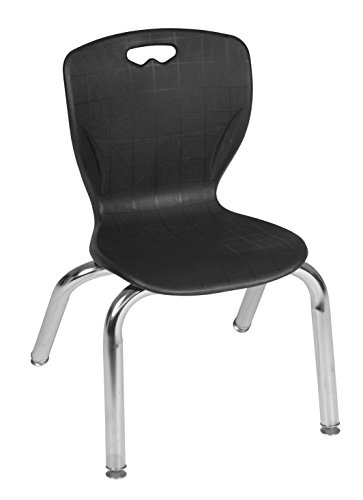 Regency 4500BK Andy Collection Stacking Chair, 12'', Black/Chrome by Regency