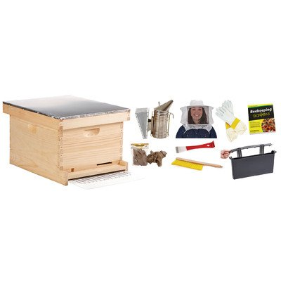 Little Giant Farm & Ag HIVE10KIT 10-Frame Beginner Hive Kit, Medium, Natural