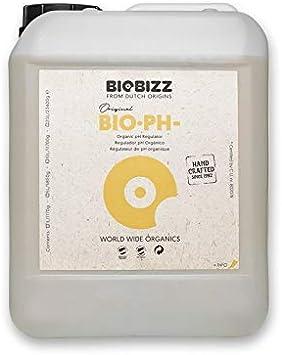 Weedness BioBizz Bio pH- Menos 250 ml - Crecimiento de Cultivo biológico Natural con reducción de pH para Interiores Fertilizante ph Minus Liquid (5 Liter)