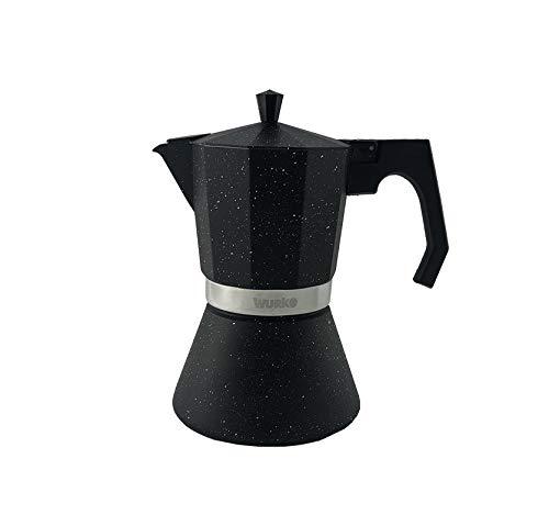 Wurko - Cafetera Aluminio Inducción Amaretto 6 Tazas: Amazon.es: Hogar
