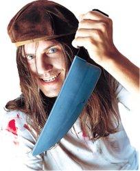 Screamers Halloween Costumes (PMG Halloween The Screamer Knife, Black/Silver)