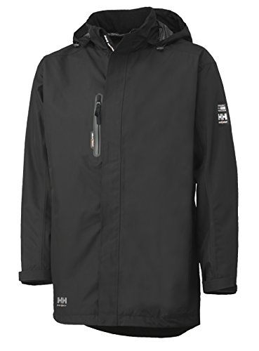 Helly Hansen Workwear Men's Haag Waterproof Parka, Black, Medium