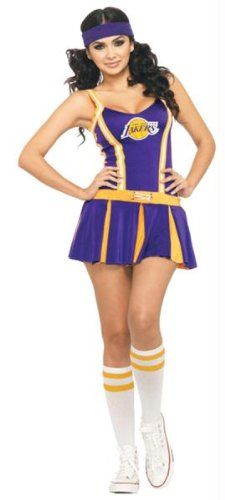 LA Lakers Cheerleader Costume - Small/Medium - Dress Size 4-8 ()