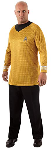 Rubie's Plus-Size Star Trek Into Darkness Deluxe Captain Kirk Shirt With Emblem, Gold/Black, Plus Costume