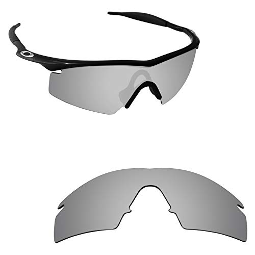 Alphax Silver Titanium Polarized Replacement Lenses for Oakley M Frame Strike
