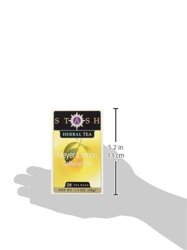 Stash Tea Meyer Lemon Herbal Tea 20 Count Tea Bags in Foil (Pack of 6) (Packaging May Vary) Individual Herbal Tea Bags for Use in Teapots Mugs or Cups, Brew Hot Tea or Iced Tea by Stash Tea (Image #4)