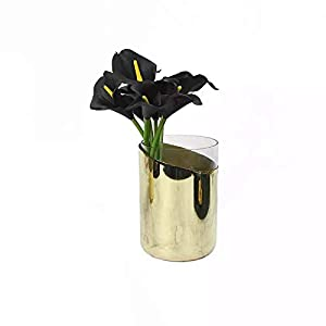 Luyue Calla Lily Bridal Wedding Bouquet Head Lataex Real Touch Flower Bouquets Pack of 20 (Black) 5
