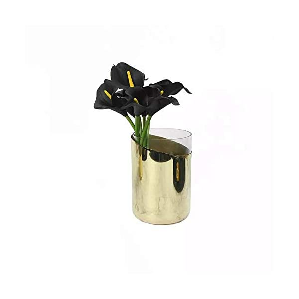 Luyue-Calla-Lily-Bridal-Wedding-Bouquet-Head-Lataex-Real-Touch-Flower-Bouquets-Pack-of-20-Black