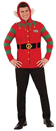 North Pole Unisex Christmas Elf Sweater Hoodie, Red/Green, -