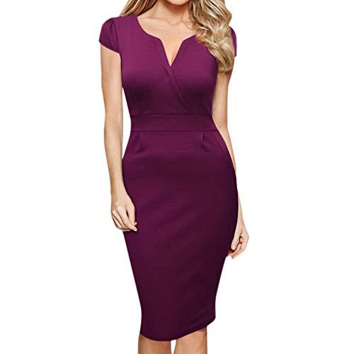 Caopixx Women's Elegant Bodycon Party Dress Knee-Length Casual Business Work Pencil - Dresses Mothers Sheath