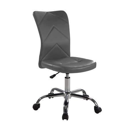 Mainstay Chevron Adjustable Height Armless Task Chair, Grey (Chair Z-line Designs Task)