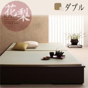 Amazon Co Jp Ikea Nitori Lovers Modern Design Tatami Bed Ȋ±æ¢¨ Karin Double Dark Brown Home Kitchen