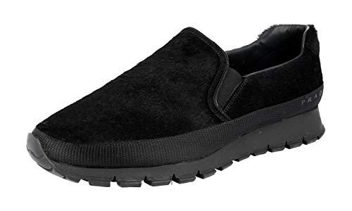 - Prada Men's PSU002 999 F0VVV Black Leather Sneaker EU 9 (43) / US 10