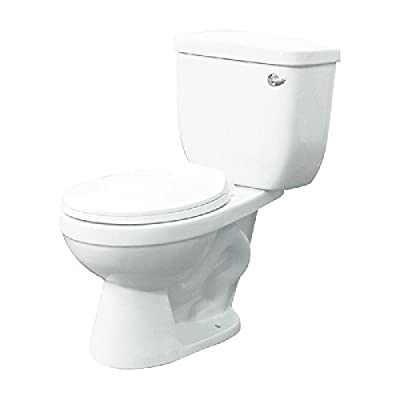 Transolid TBTS1-1440-01RH Madison 2-Piece Round Vitreous China Toilet with Right-Hand Trip Lever, White