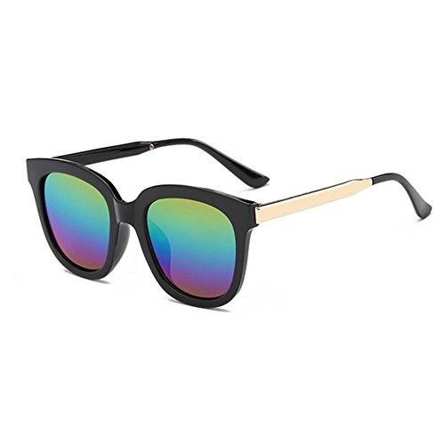 Aoligei Mode gros Frame lunettes de soleil européen et rétro de lunettes tendance American metal jambe couleur lunettes de soleil de film F