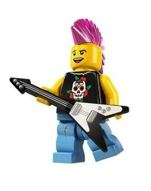 LEGO Series 4 Collectible Minifigure Punk - Rate Shipping Flat To Uk