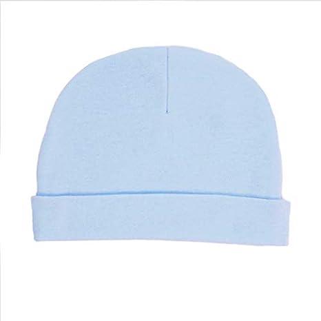 Soft Touch – Gorro azul y mitones azul y blanco de nacimiento para bebe algodón nuevo Ne o 0 A 3 Meses azul azul Talla:0 meses: Amazon.es: Bebé
