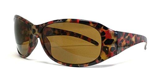 Calabria 645SB Designer Bi-Focal Reading Sunglasses in Red ; +2.50