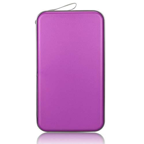 Faylapa 80 Capacity DVD/CD Case Heavy Duty Hard Plastic Protective CD/VCD/DVD(Purple)