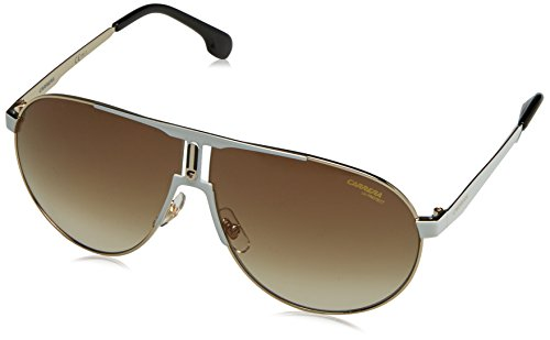 Carrera Men's Ca1005s Aviator Sunglasses, White Gold/Brown Gradient, 66 - Carrera Sunglasses Aviator