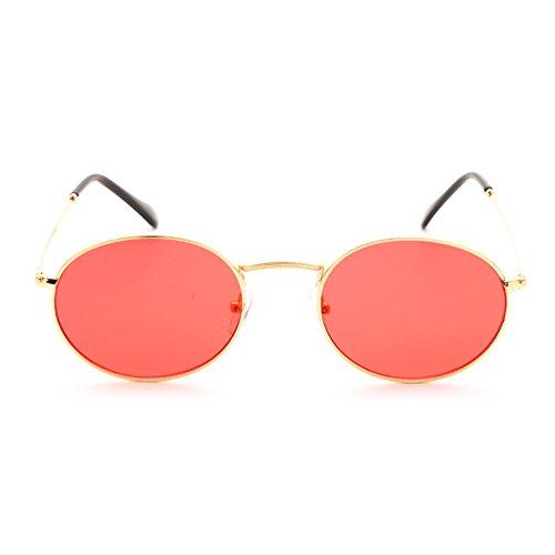 jaune C3 soleil femmes UV400 cadre clair Small soleil lentille de Juleya lunettes lunettes ovale hommes rétro de métal wqRX07T