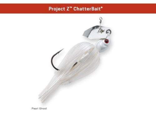 Z-Man Project Z Chatterbait 1 oz - Pearl Ghost CB-PZ1-01 Chatter Bait Jig