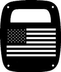 Jeep Wrangler TJ Model FLAG Tail Light Guards